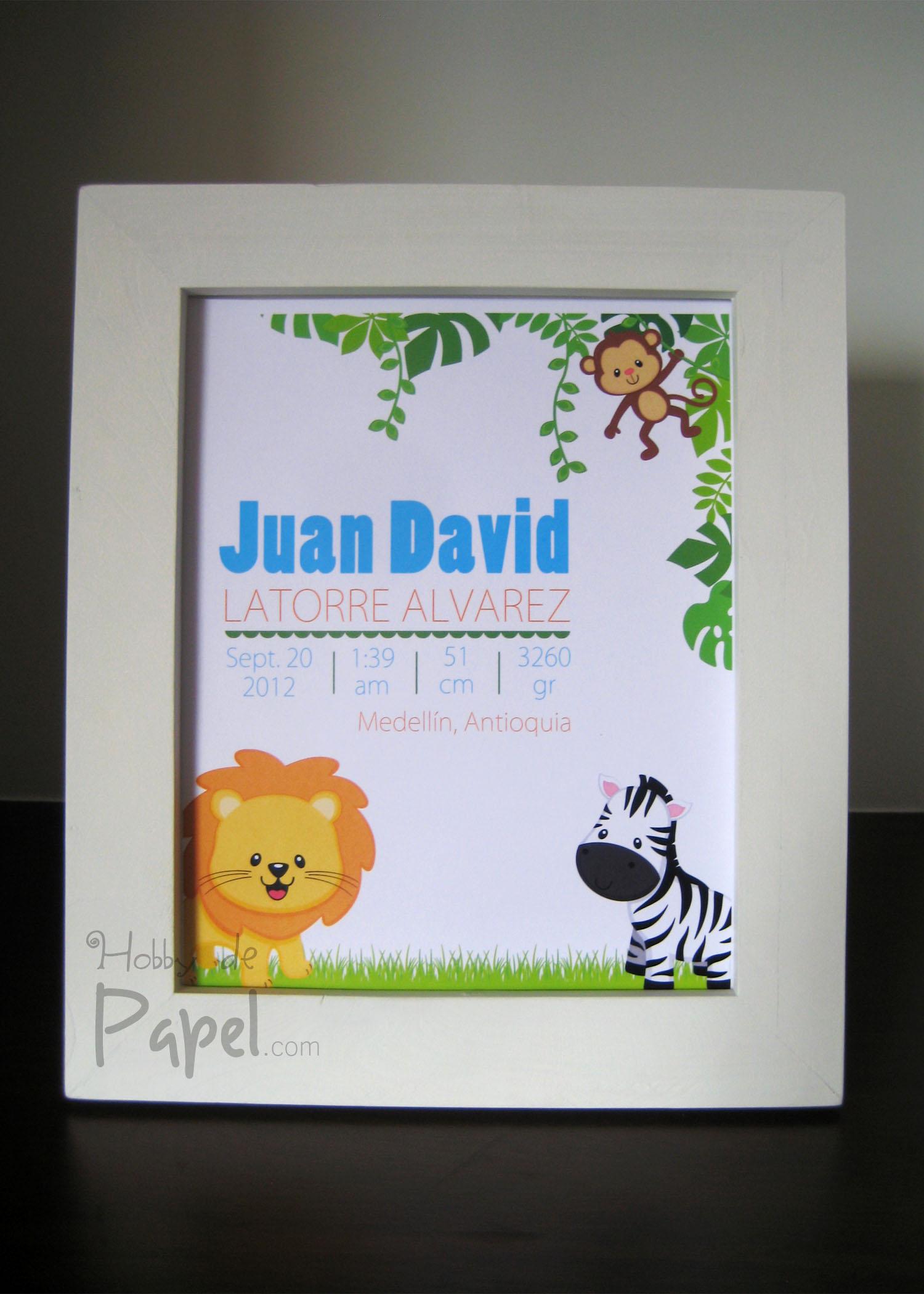 Cuadro para decorar habitaci n de beb animales de la - Cuadro habitacion bebe ...