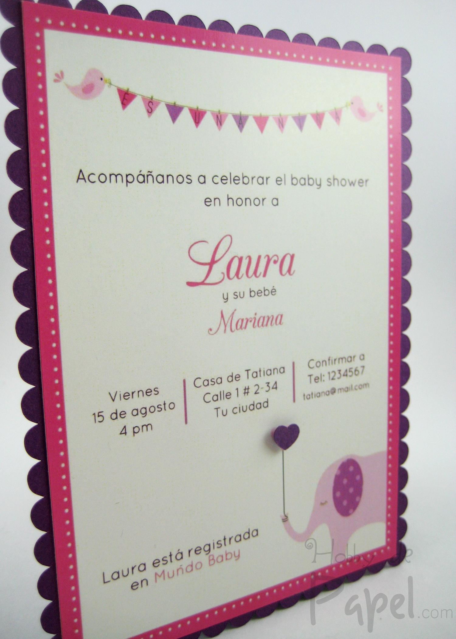 Invitaciones Baby Shower Hobby De Papel