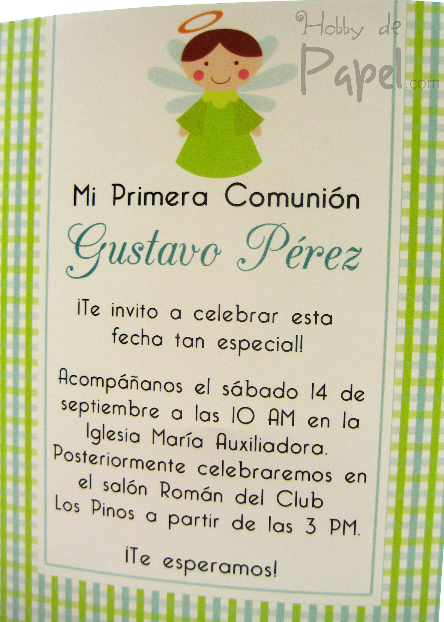 Invitaciones De Primera Comunion Para Nino
